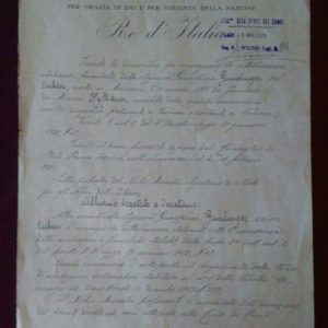 Decreto originale Vittorio Emanuele III del 22 febbraio 1925