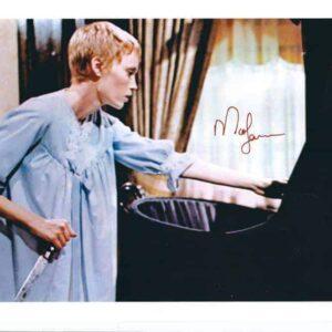 Fotografia autografata da Mia Farrow - Rosemary's Baby Nastro rosso a New York