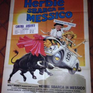 Herbie-sbarca-in-Messico-Manifesto-orginale-1980-Walt-Disney-796x1024