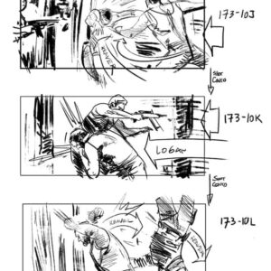 Logan - The Wolverine storyboard #1