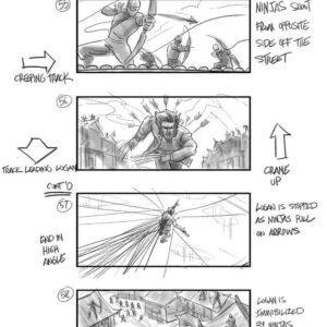 Wolverine L'Immortale storyboard