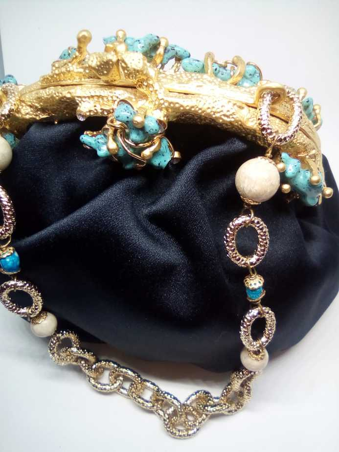 Maddalena Marconi – Blue jewel bag – vintage