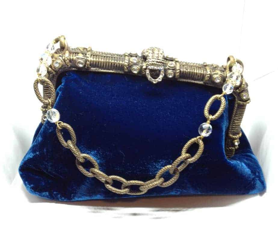 Maddalena Marconi – Blue velvet jewel bag – vintage –  Pre-Owned