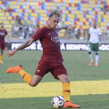 Rick Karsdorp Pantaloncino n° 2 As Roma Match Worn taglia L ...